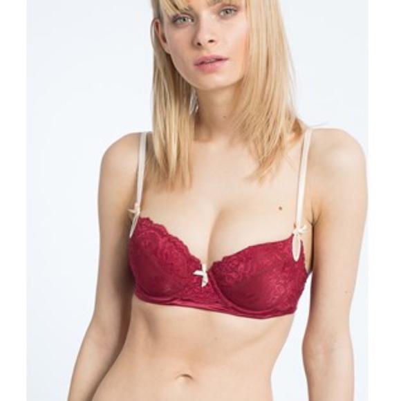 Elle Macpherson Other - Elle Macpherson Red Lace Balconette Bra 36A